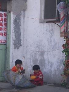 Enfants dans les hutongs de Pékin